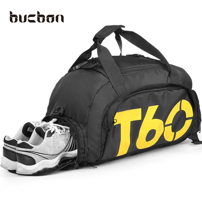 2019 Bucbon Multi Use Portable Shoulder Sports Bag Gym Backpack Separated  Shoes Storage Fitness Bags Men Women Travel Daypack HAB097 From Stem c7ddcf2339ebd
