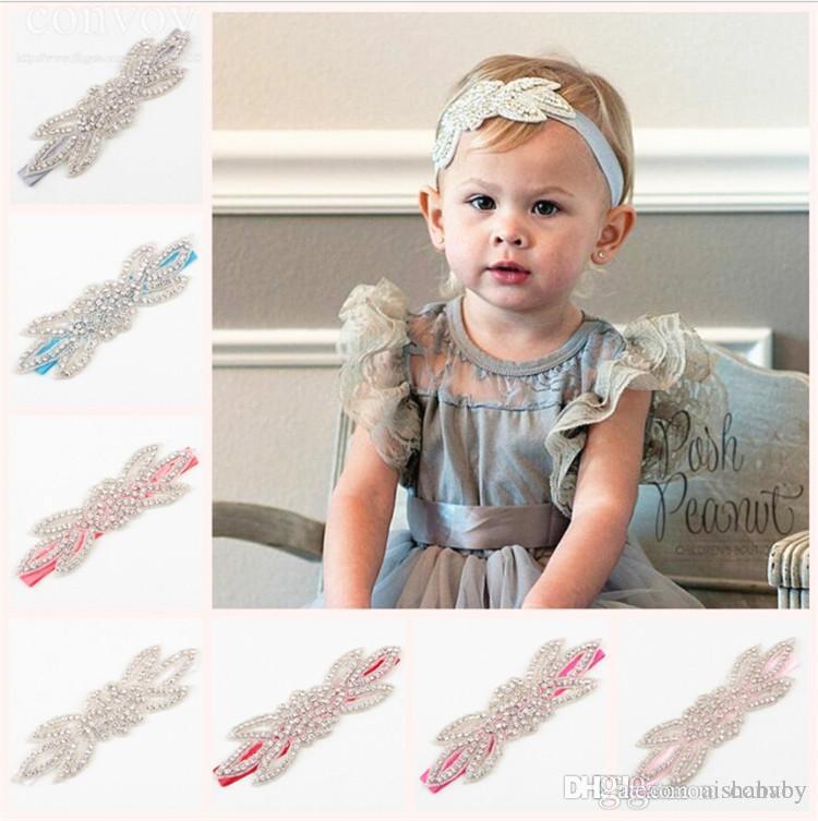 Großhandel Baby Kinder Hochzeit Stirnbänder Infant Girls Hand Made ...