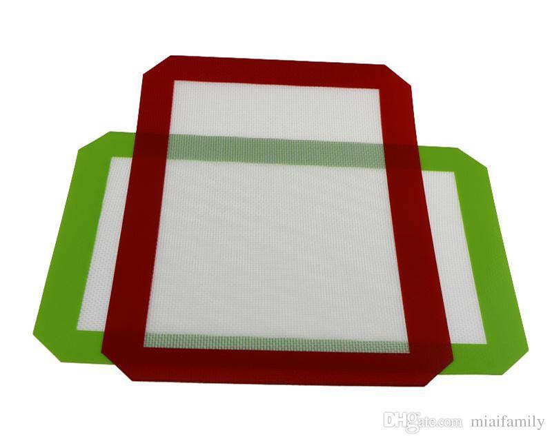 Não-Stick Silicone Dab Esteiras Para Cera 30 CM x 21 CM 11.81 x 8.27 polegada Silicone Baking Mat Dab Óleo Bake Seco Herb DHL livre