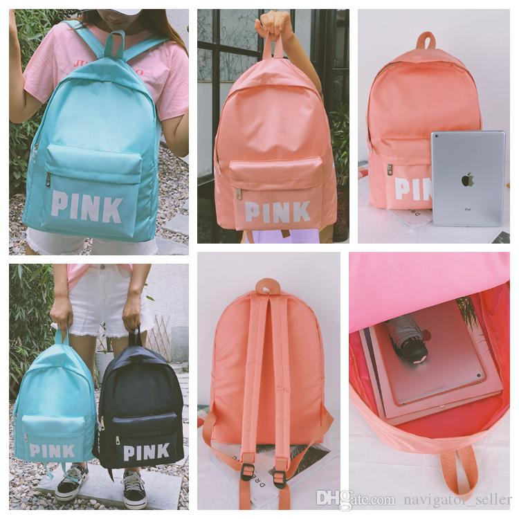 2019 PINK Style Backpack Casual Backpacks Student Schoolbags Travel Bag  Outdoor Sports Colors 43X32X15cm Large Capacity Knapsack From  Navigator seller e723d9a3a181a
