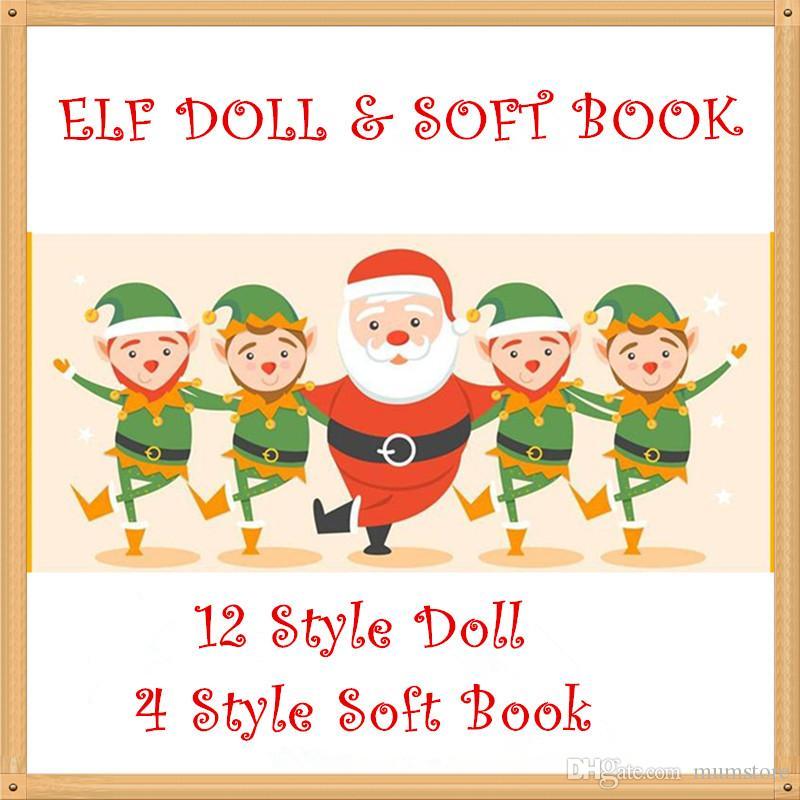 Acquista Freeship Peluche Elf Dolls Red Girl Boy Figure Elfi Di