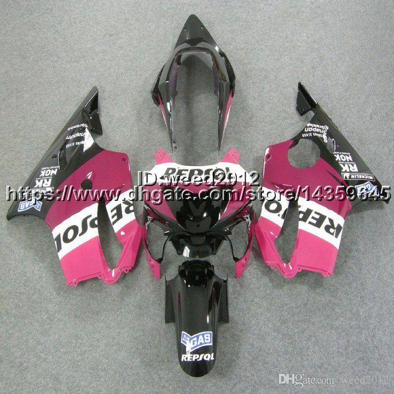 23colors+5Gifts Injection mold repsol pink motorcycle cowl for HONDA CBR600F4 1999-2000 CBR 600 F4 ABS Fairings body kit