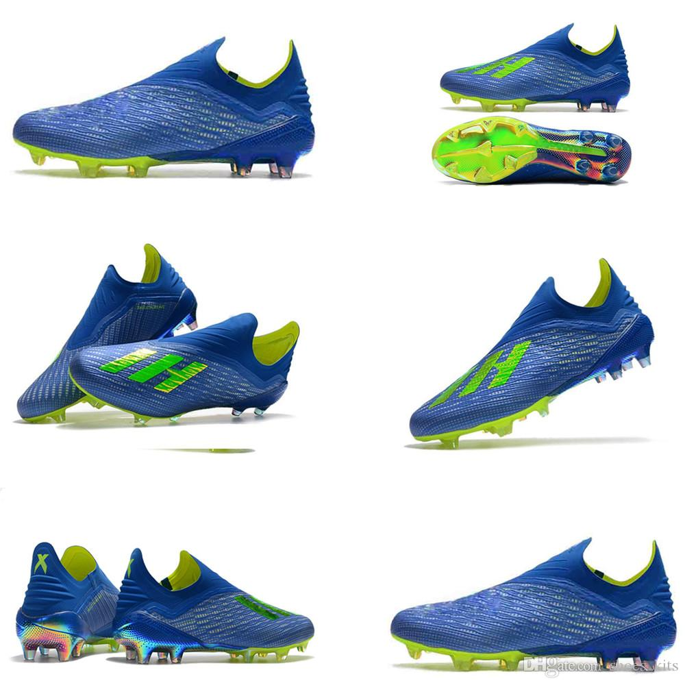 75fd33db8b014 Compre Botas De Fútbol 2018 Originales Para Hombre Con Bajo Tobillo X 18 FG  Zapatos De Fútbol X 18+ Speedmesh X18 Botas De Fútbol Al Aire Libre Mesia  Speed ...