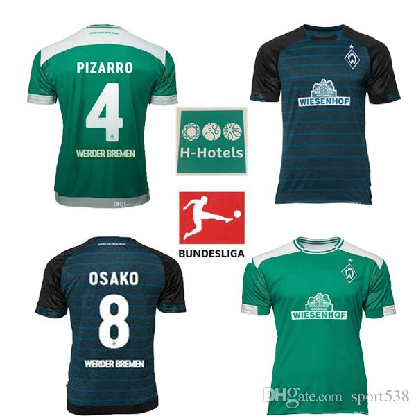2018 2019 SV Werder Bremen 6 Kevin Möhwald Camiseta Verde Local 18 19  Werder Bremen Visitante Claudio Pizarro 4 Max Kruse Camisa Deportiva Por  Sport538 4ec7038b6b14d