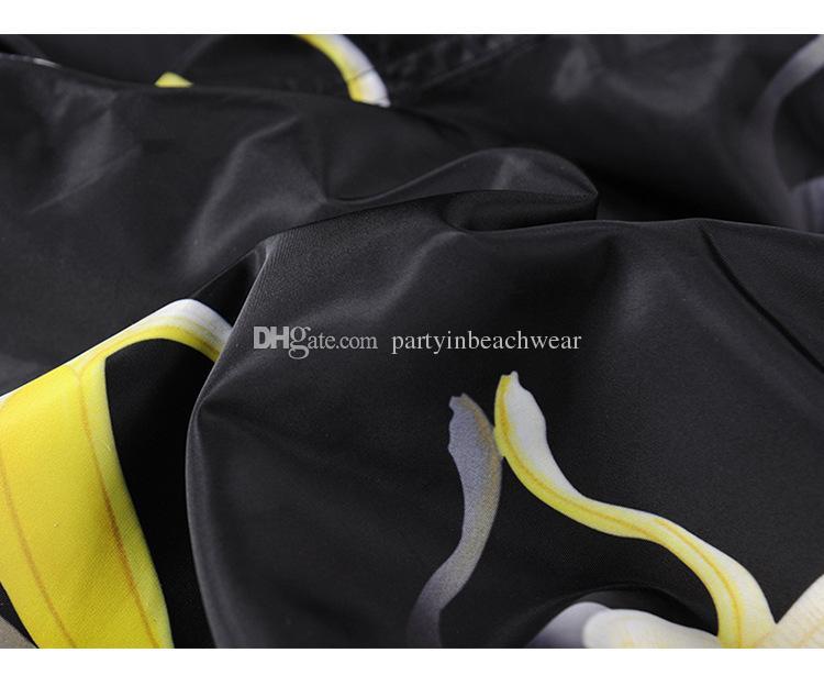 Moda Uomo Estate Spiaggia Pantaloncini 3D Frutta banana stampa digitale casual Pantaloncini da bagno Pantalone Costumi da bagno Surf nuoto Quick-dry running Sport tronchi