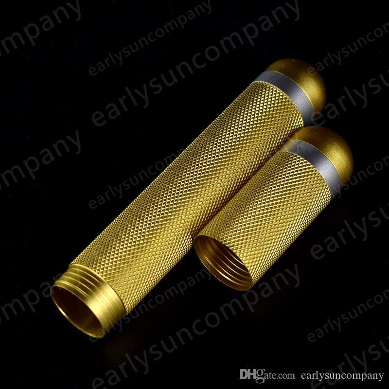 Goldenen Hoop Bar Design abnehmbare Reise täglich klassische Tabak Rauch Zigarre Zigarre feuchtigkeitsspendende Humidor Rohr 178x27x27mm