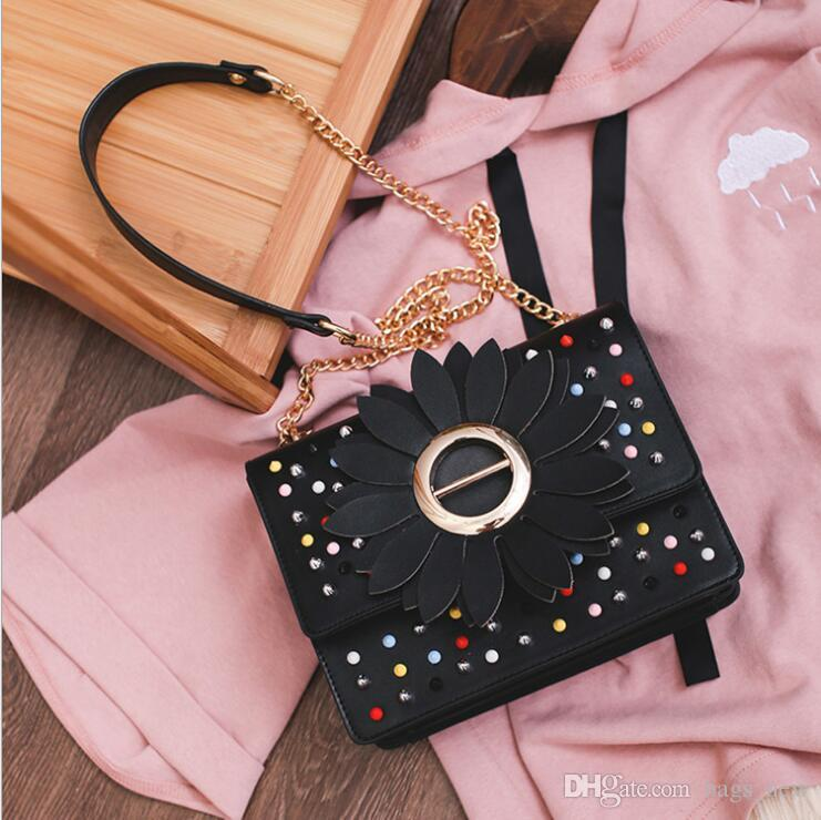 Summer Women Sling Chain Shoulder Rivet Bags Women Shoulder Bags High  Quality Leather Ladies Crossbody Bag Girl Bags Ladies Bags Backpack Purse  From ... 9177f9c0a5