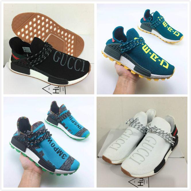 reputable site 6613d 749f1 pharrell williams human race NERD Solar PacK Running Shoes pharell williams  Hu trail human races Holi Equality Mens Women Sports sneakers 47