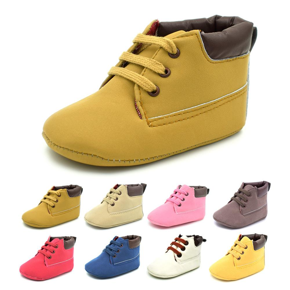 Mix color Wholesale 10 pcs Casual Baby Martin leather walkers Boots Soft Bottom Toddler Shoes