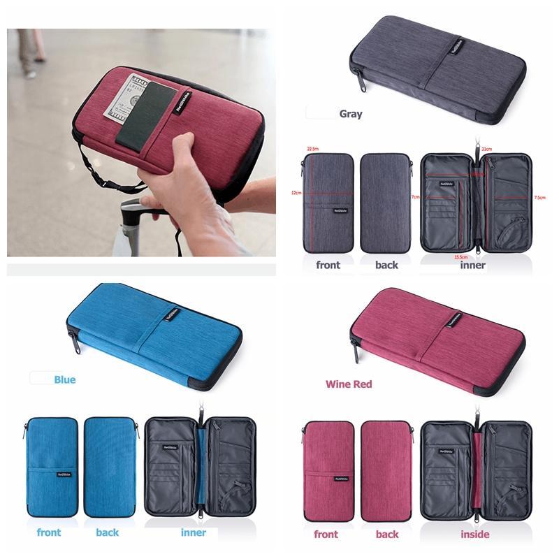 f6e0c671f Passport Holder Ticket Wallet Handbag ID Credit Card Storage Bag Travel  Passport Wallet Holder Organizer Purse Bag MMA398 Cheap Wallets Zip Around  Wallet ...