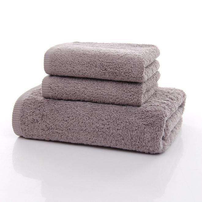 Luxury 100 Cotton Face Bath Towel Set Thicker Hotel Towel For Adults 3pcs 1 Pc Bath 70x140cm 2 Pc Face 34x75cm
