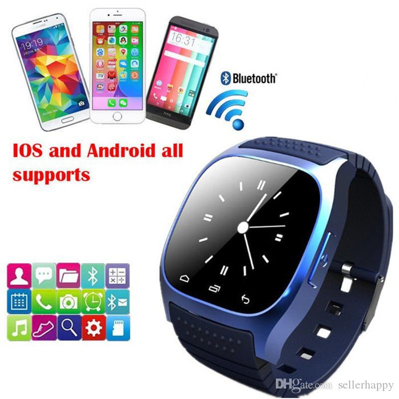 M26 smartwatch Wirelss Bluetooth Smart Watch Phone Bracelet Camera Remote Control Anti-lost alarm Barometer watch for IOS Android DHL Free