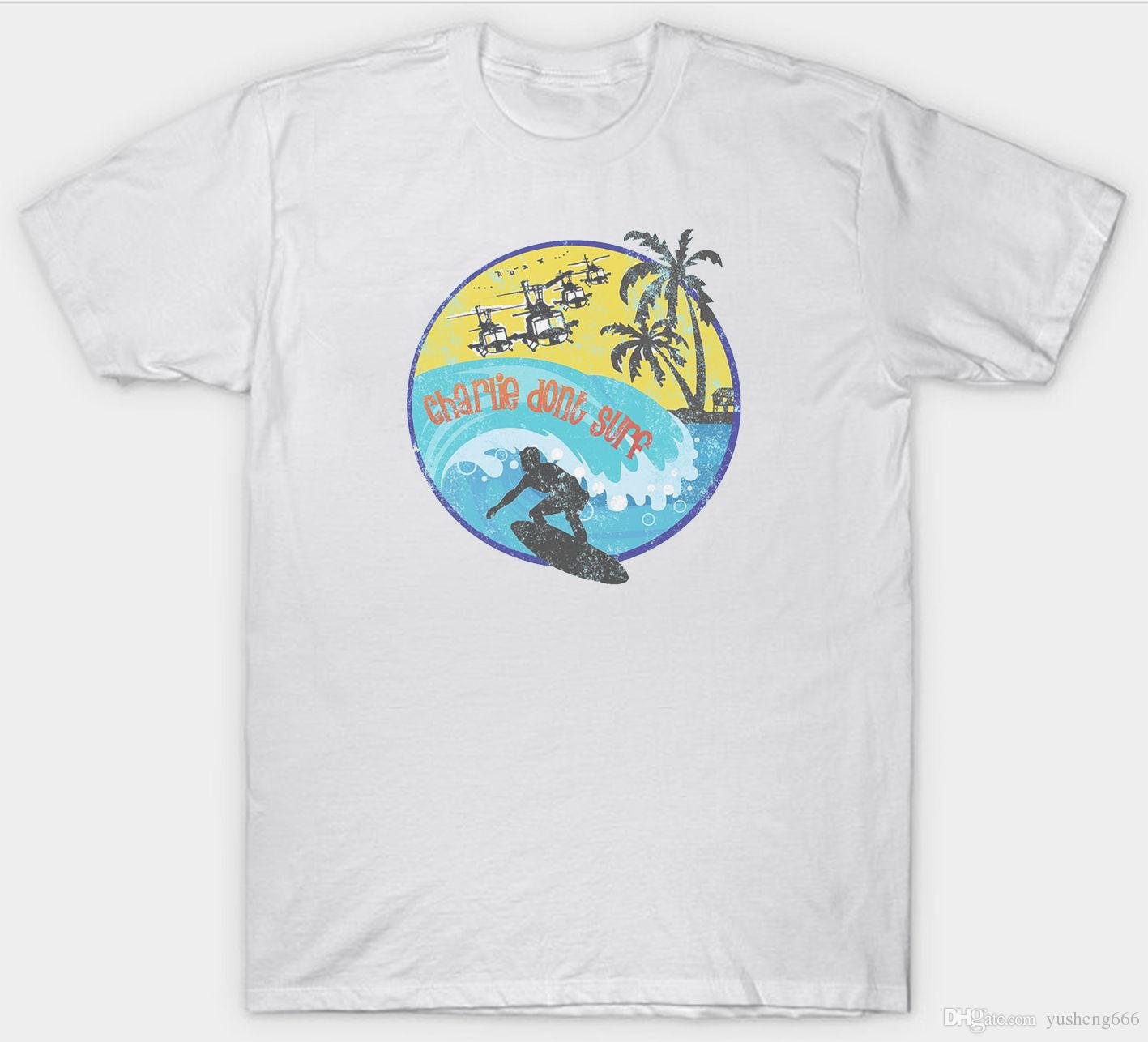 Charlie dont surfer t shirt apocalypse now film movie 1980s birthday present newest 2017 fashion printed mens men t shirt 2018 new short sleeve t shirt