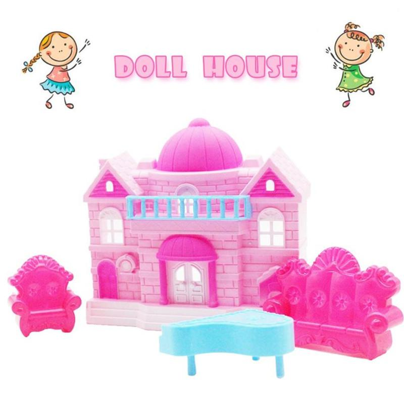 Popular Big Pretend Play Princess Doll House Toy Big Family House