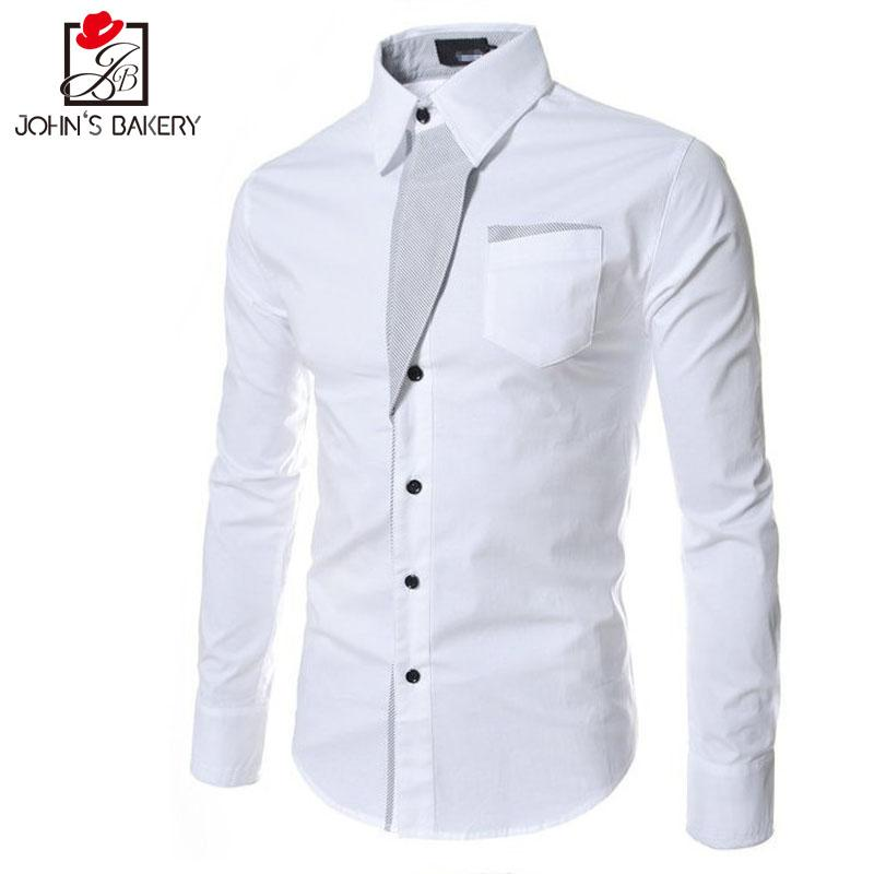 4bb4252822a2d 2019 New Brand 2017 Dress Shirts Mens Striped Shirt Cotton Slim Fit Chemise  Long Sleeve Shirt Men Model Shirts White Plus Size 3XL From Elizabethy