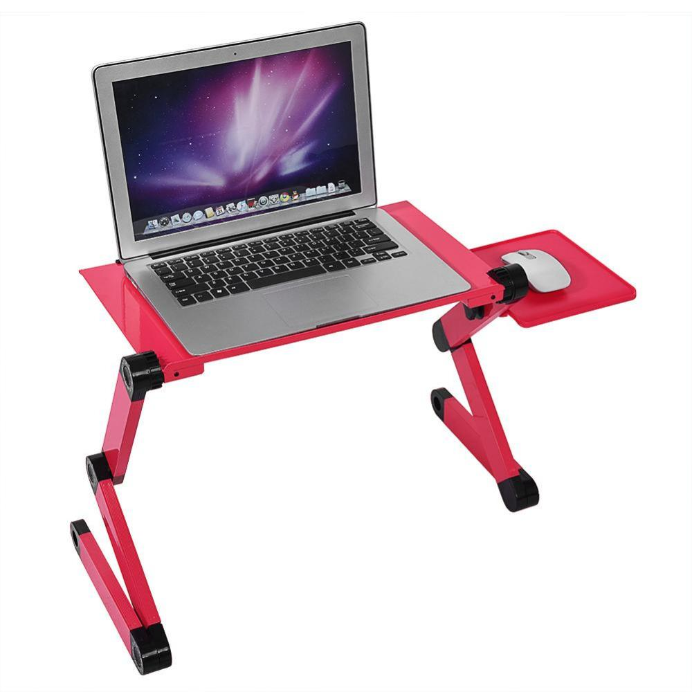 Standing Portable Mobile Laptop For Bed Sofa Folding Table Notebook Desk With Mouse Pad Bureau Meuble Office