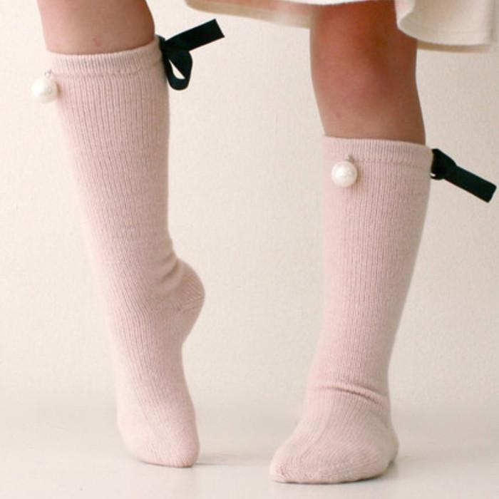 eef07c0a1f8 Cute Baby Socks Bow Pearl Princess Dance Socks Infant Knee High Cotton  Socks Girls Kids Long Tube Booties Sokken 0 7Y Cool Socks For Girls Swedish  Socks ...