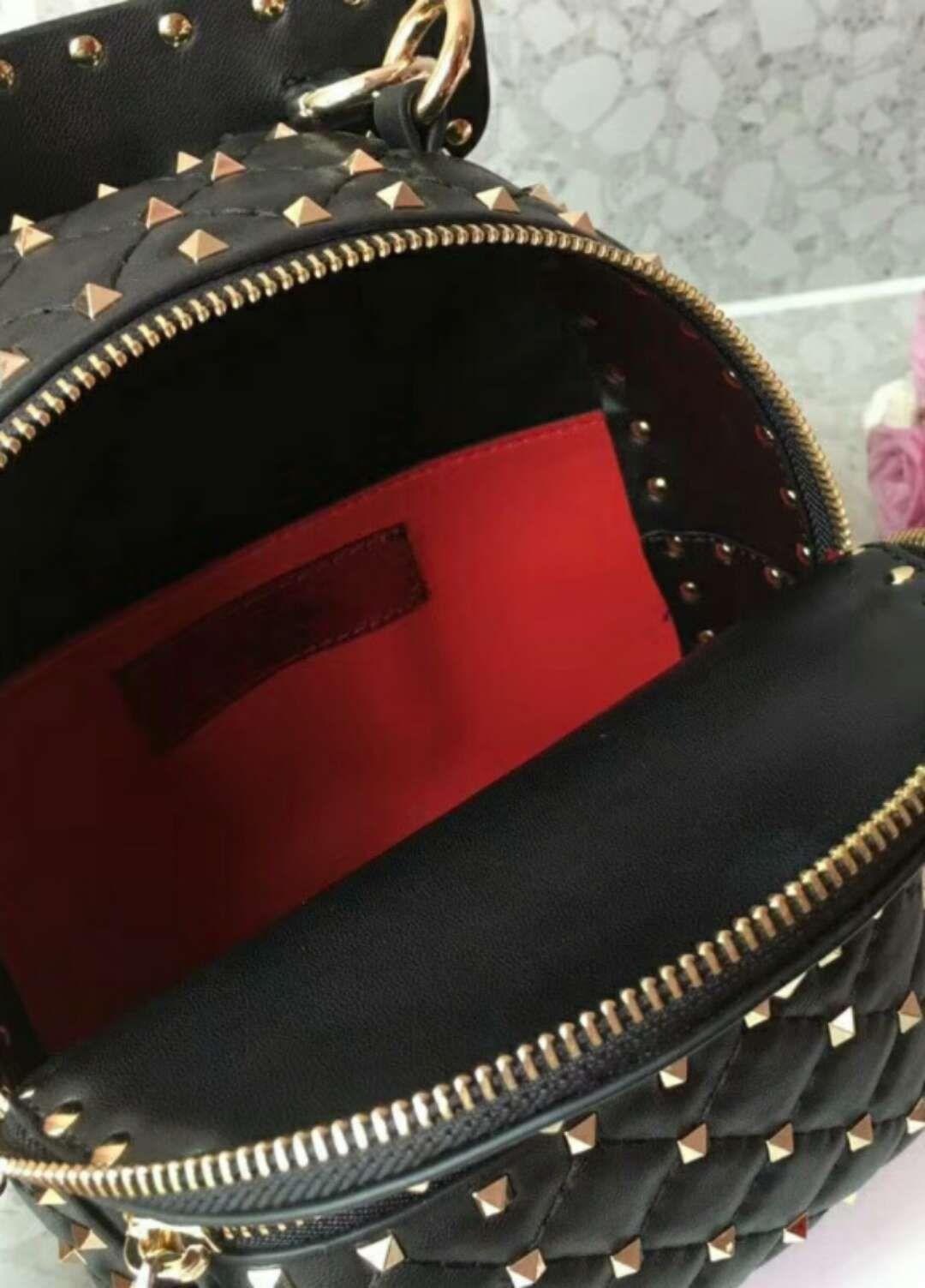 new couplebackbag fashion show full start diamond lattice sheep skin genuineleathermenwomenschoolbagtravelbackpack dot rivet 17cm
