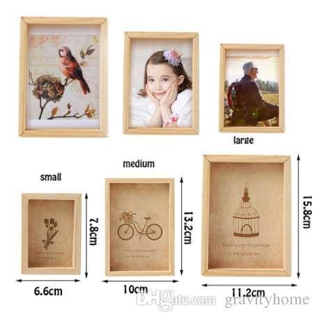 2018 Family Vintage Multi Photo Frame Online Home Decor Art Wooden ...