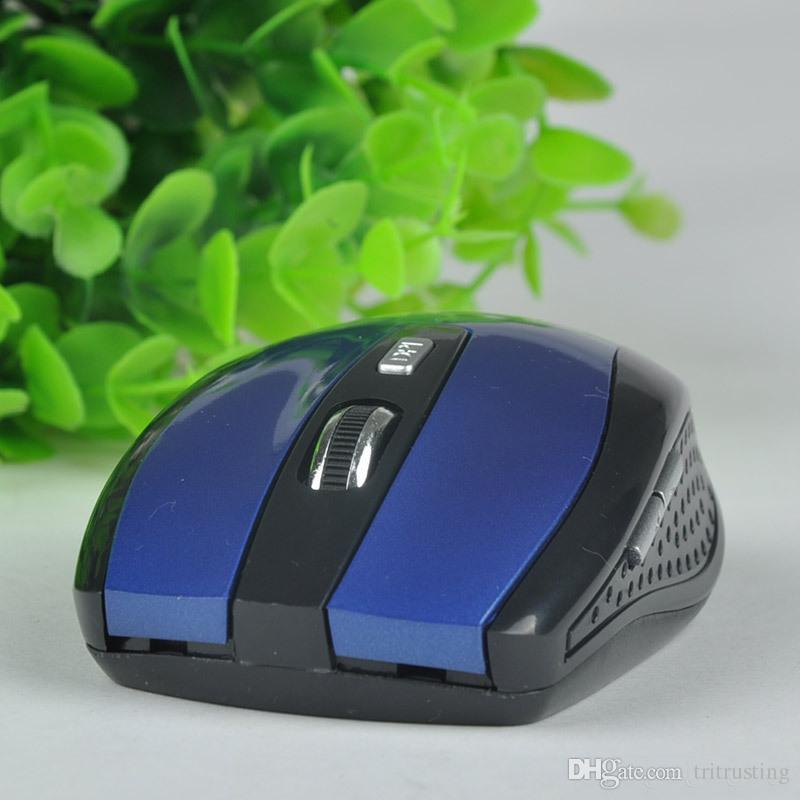 2.4GHz USB Optical Wireless Mouse USB Receiver mouse Smart Sleep Energy-Saving Mice for Computer Tablet PC Laptop With White Box MQ20