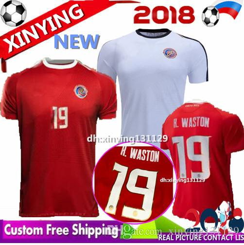2019 Costa Rica Jerseys 2018 19 World Cup M.UREÑA Costa Rica Soccer Jersey  Home Away G.González CAMPBELL WALLACE K.WASTON Football Shirt From  Xinying131129 dc749a059