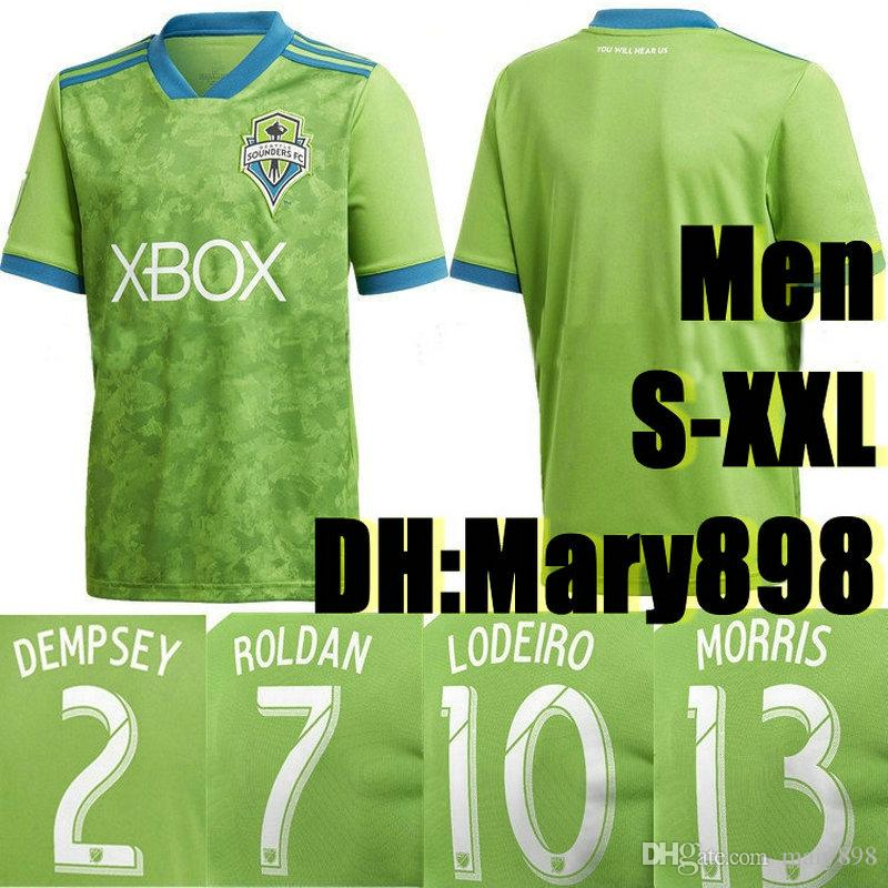 new product f9a08 05825 Top Thai quality 18 19 MLS soccer jersey 2018 2019 Seattle Sounders FC  green DEMPSEY ROLDAN LODEIRO MORRIS football shirts S-2XL