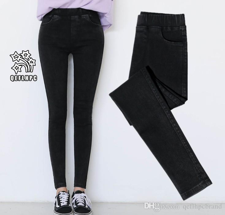 2018 Ladies tight pants Leggings Fashion casual ladies trousers Elasticity Cotton blend Keep warm Ventilation Women Pencil pants black A506