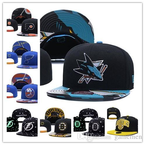 Hat San Jose Sharks Ice Hockey Knit Beanies Embroidery Adjustable ... 1a44f13b08d4