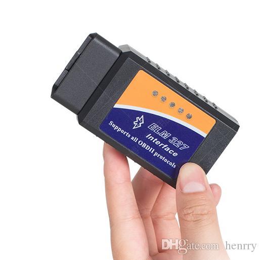 20ピースBluetooth ELM327 BT ELM327 OBD2 ELM 327缶バス高品質の自動車診断アダプタケーブルV1.5 PIC 25K80