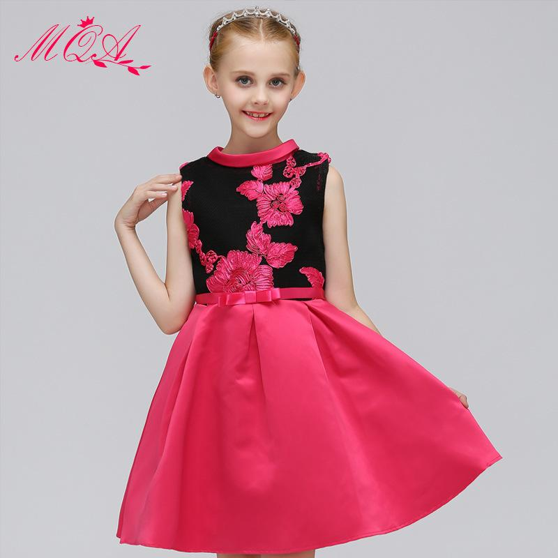 Kid Girl Dress 2018 Children Girls Party Dresses Full Dress Petal Princess Girl Gauze Embroidery Thick TuTu Dress