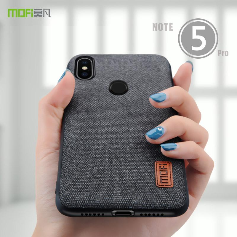 Redmi Note 5 Case Cover MOFI For Xiaomi Global Fabrics Pro Silicone Edge Full Back Top Rated Cell Phones Leather