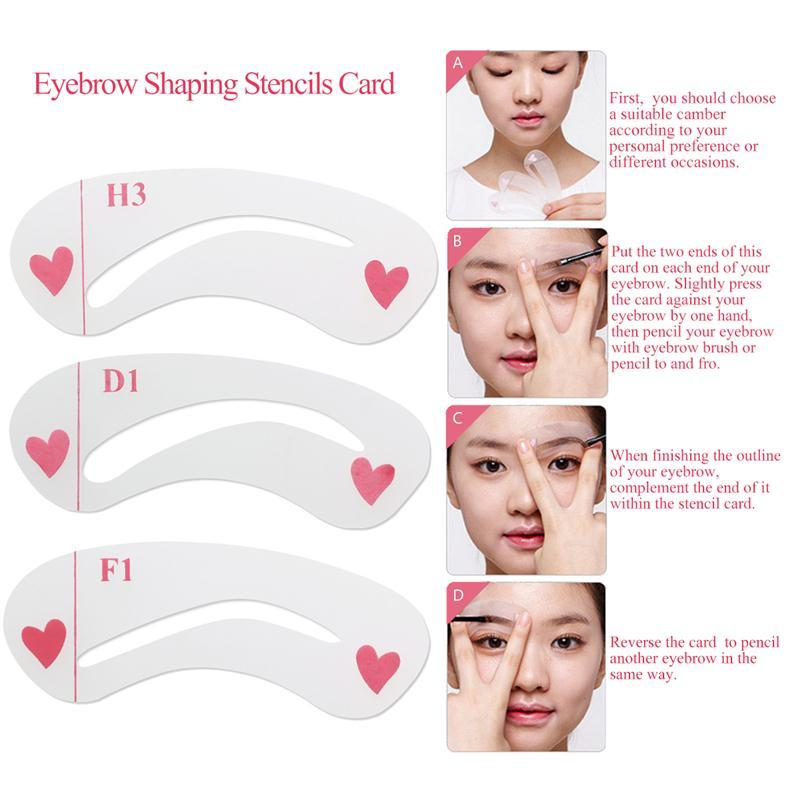 Eyebrow Stencils Grooming Eye Brow Diy Drawing Guide Styling Shaping