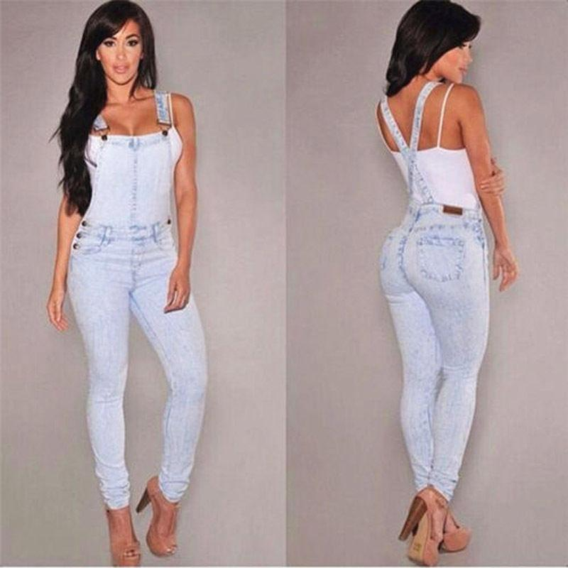 1da273c919f 2019 Women Fashion Overalls 2018 New Hot Denim Jumpsuits Jeans BIB Pants  Straps Jumpsuit Rompers Trousers Fashion Long Backless Pants From Caeley