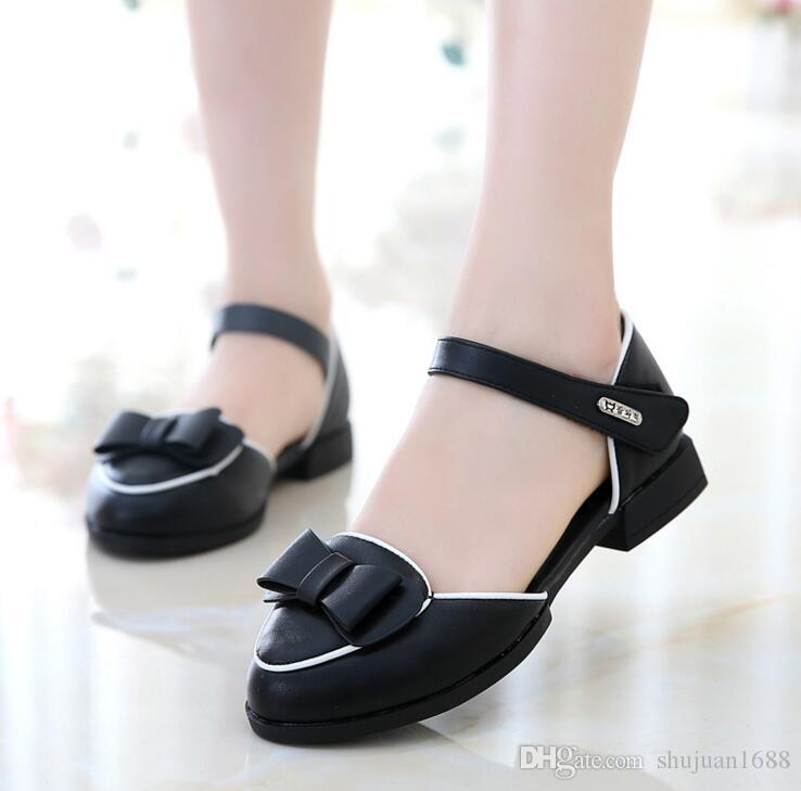 Girls Sandals New Fashion 2018 Baby Children Kids Girl Princess Leather  Shoes Spring Autumn High Quality Size26~37 Children Princess Shoes Online  with ... 163083cd1d73