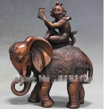 Metalware Interesting Antique Painted Bronze Monkey Sculpture Lustrous Surface