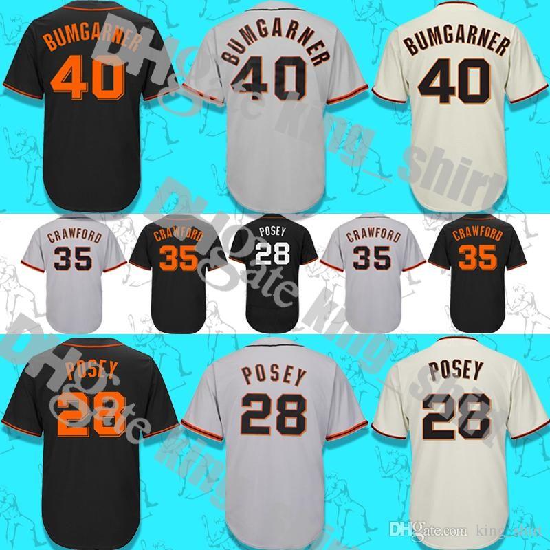 Men s Baseball Jersey  28 Buster Posey 22 Will Clark 35 Brandon Crawford 40  Madison Bumgarner Jerseys High Quality 28 Buster Posey 22 Will Clark 35  Brandon ... 896cad5a6