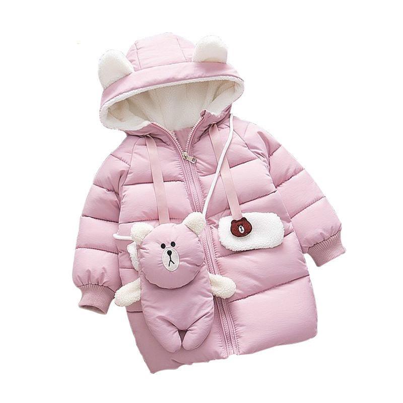 Compre Moda Infantil Crianças Quentes Roupas Bonitas Meninas Inverno  Feminino Bebê Casaco Grosso De Jasmineer 561d3372f54
