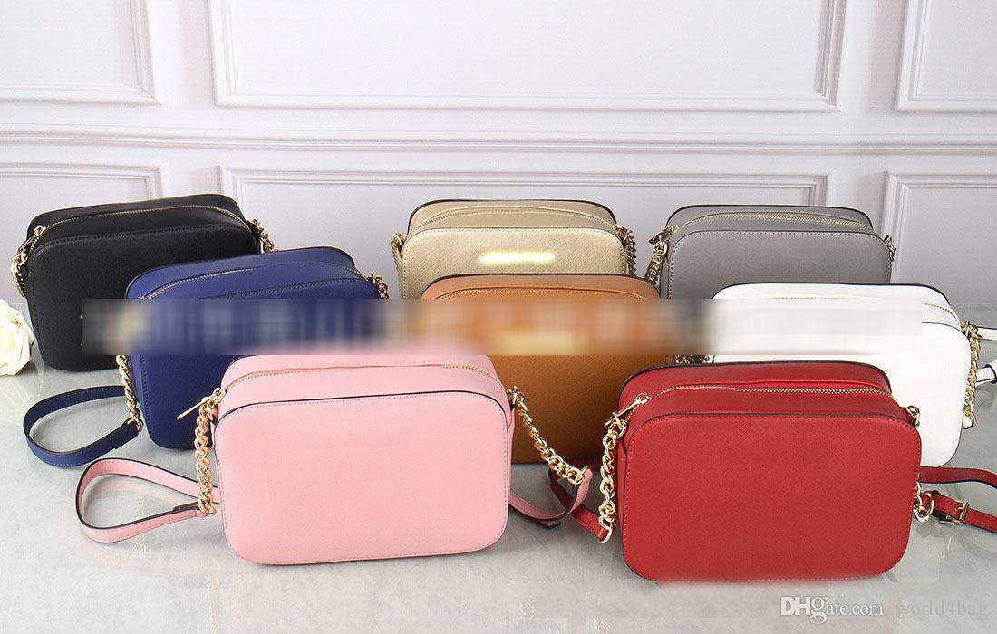 8d0dd7f854a New European and American Fashion Simple Wild Messenger Bag Small Square  Chain Cross-grain PU Leather Ladies Shoulder Bag