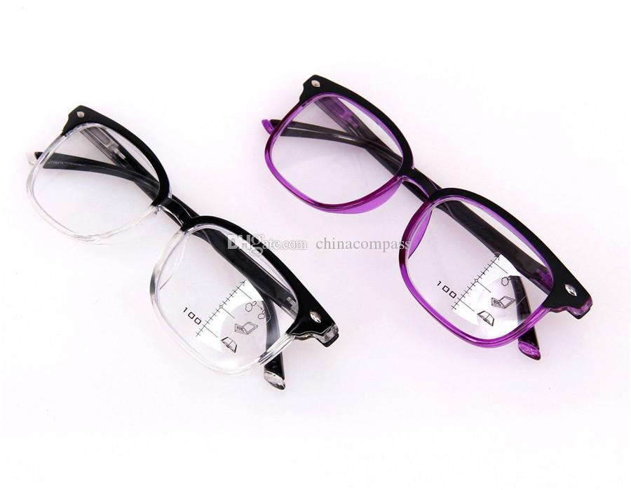 New Vintage Smart Progressive Multifocal Reading Glasses near and far Multifunction glasses Bifocal Eyewear +100 to +300 diopter