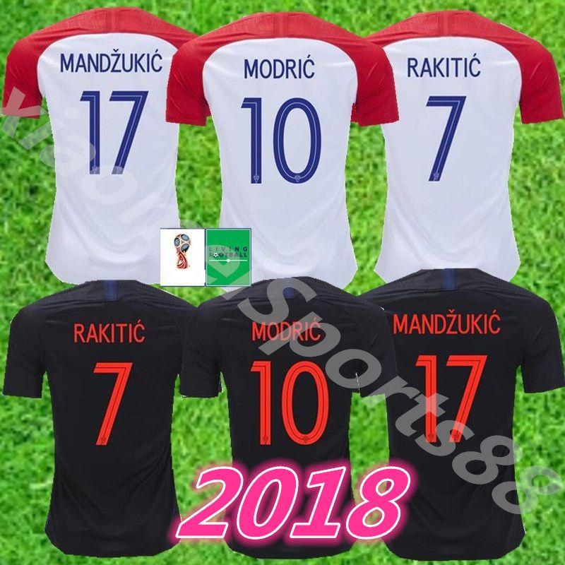 68d2bbf61 2019 2018 World Cup MODRIC MANDZUKIC RAKITIC CroATia Home Soccer Jerseys  2018 World Cup Camisetas PERISIC KALINIC KOVACIC Football Shirts From ...