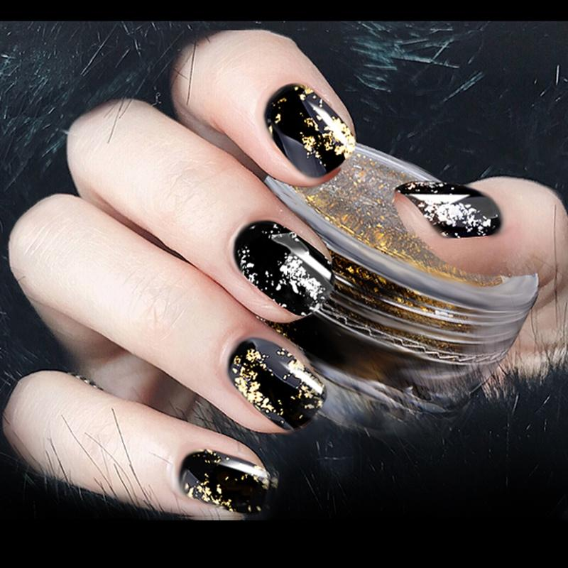 Gold Silver Nail Powder Super Flakes Magic Mirror Effect Nail ...