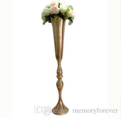 0131046c436 Elegant Metal 88 Cm Tall Sparking Gold Wedding Flower Vase Table  Centerpieces Wedding Decoration Flower Stand Tall Vases Wedding Decor  Packages Wedding ...