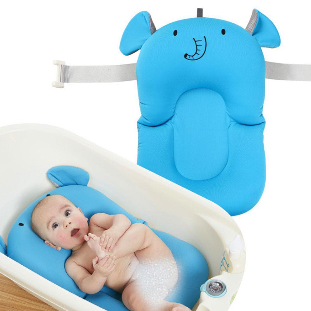 2018 Cartoon Animal Infant Non Slip Bath Seat Foldable Baby Bath Tub ...