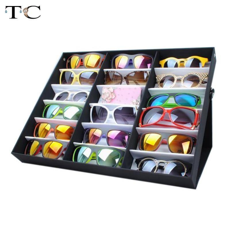 Fabrik Qutlet 18 Gitter Für Sunglass Eyewear Schmuck Uhren Zubehör Vitrine Box Tray