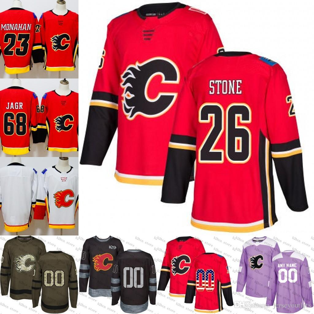 d3e7f30ecf8 2019 2018 2019  26 Michael Stone Calgary Flames Ice Hockey Jersey Purple  Black White Army Green 100th Flat Usa Men Women Youth Size S 3XL From  Jerseyoutlets ...