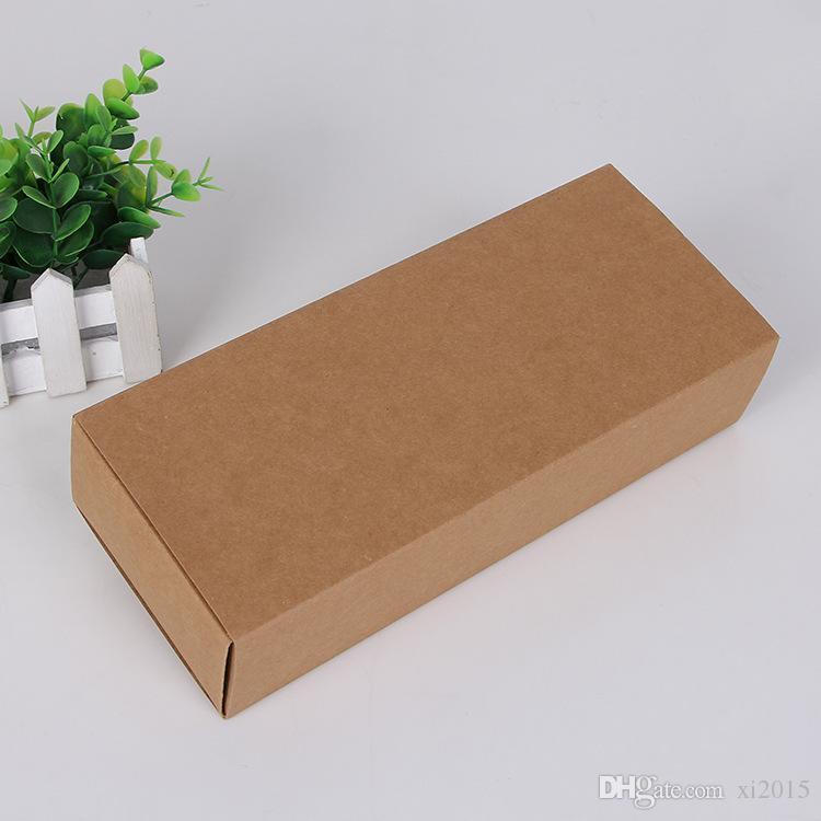 Scatole d'imballaggio del regalo della biancheria intima dei calzini dei calzini della scatola del cartone della carta kraft di Eco amichevole 22,5 * 9,5 * 4,5 CM wen6583