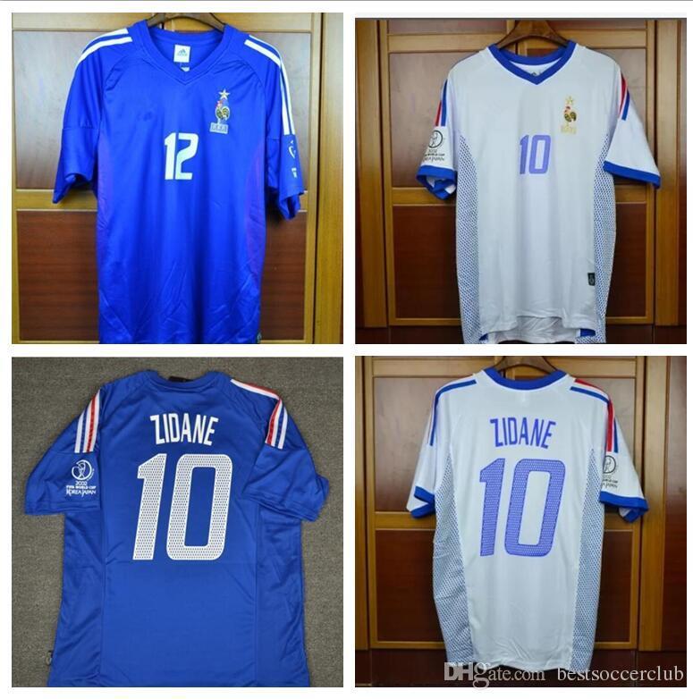 647922909 2019 Retro Jerseys 2002 World Cup France Home Away Blue White Zidane Henry  Trezeguet 02 Jersey Shirt From Bestsoccerclub