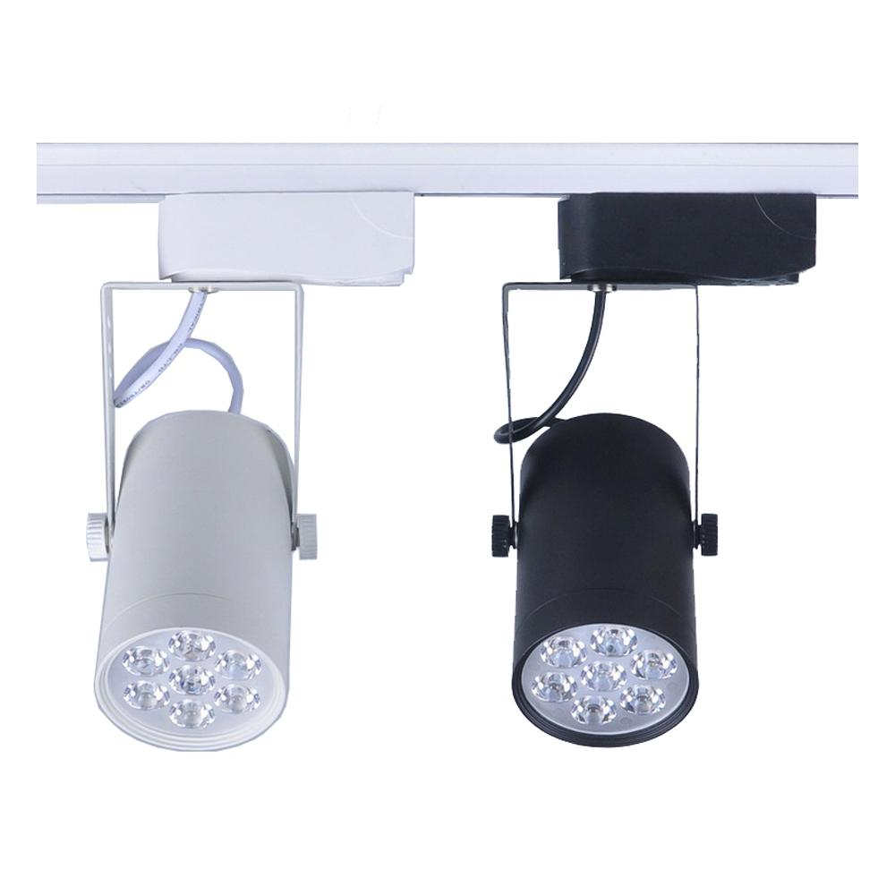 track lighting cheap. Online Cheap Retail Sale 7w Led Track Lighting Ac230v Aluminum White And Black Shell Rail Ceiling Light Spotlight By Alluring | Dhgate.Com A