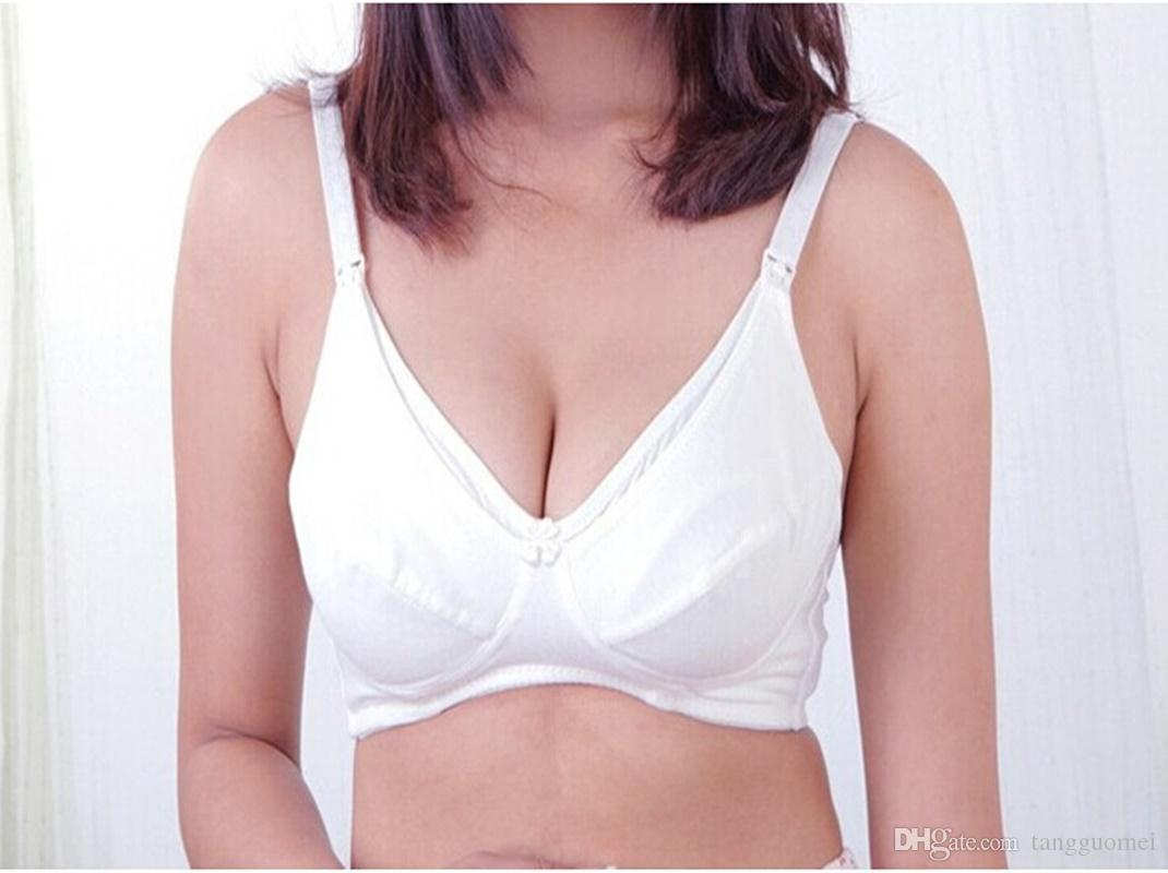 cc93289eba621 New Solid Color Buttoned Nursing Bra Maternity Breastfeeding Comfortable  Bra Pregnant Woman Breastfeeding Underwear Mom And Maternity Clothe Online  with ...