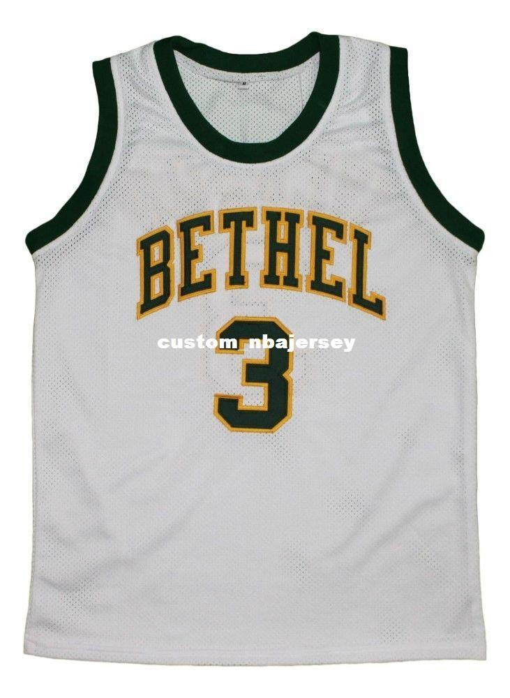 ea32fe0380ea 2019 Wholesale Allen Iverson  3 Bethel High School New Basketball Jersey  White Stitched Custom Any Number Name MEN WOMEN YOUTH BASKETBALL JERSEYS  From ...